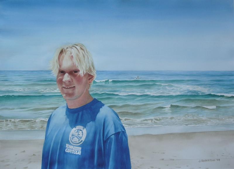 """""""Kevin"""", 2004, Watercolor, 20"""" x 29"""" Original & Prints NFS"""