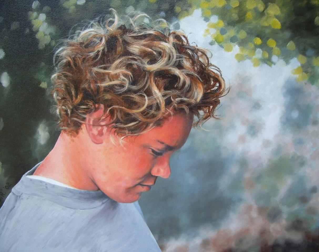 """Danny"", 2002, Oil on Canvas, 16"" x 20"" Original & Prints NFS"