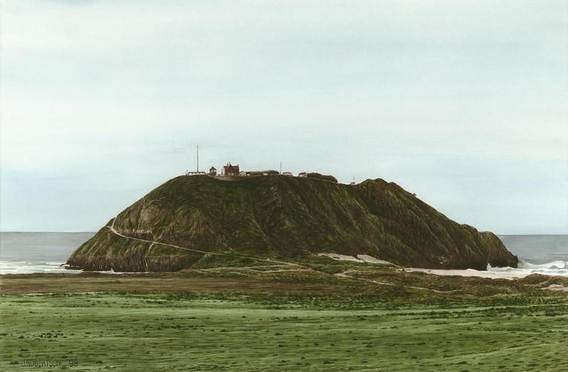 """Point Sur Lighthouse"", 1998, Watercolor, 19"" x 29"""