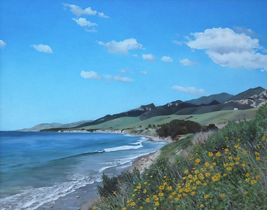 """Goleta Coast"" 2003, Oil on Canvas, 24"" x 30"""
