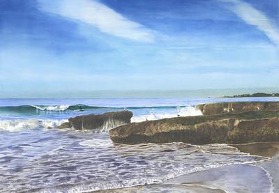 """Rockview Street"", 1997, Watercolor, 14"" x 20"""