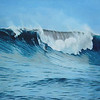 """Mavericks"", 1998, Oil on Canvas, 30"" x 40"" (based on a commercial photograph)"