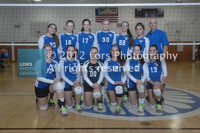 2012-10-4 James Caldwell HS Girls V & JV Volleyball
