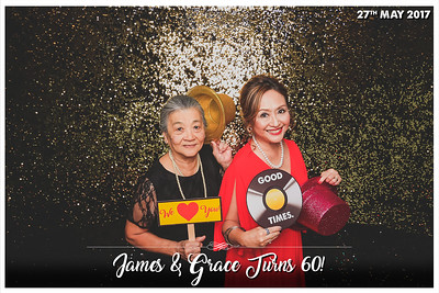 #JAMES&GRACE60TH | © www.SRSLYPhotobooth.sg