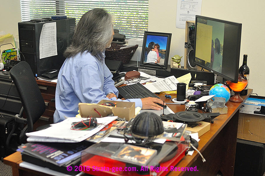Mike Park's desk at the old Napa facility