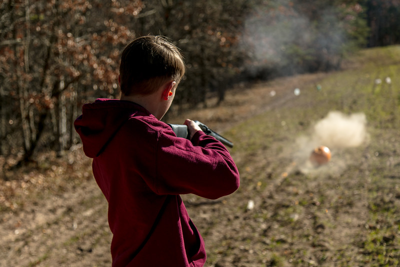 Brennan with the Big Boy Gun