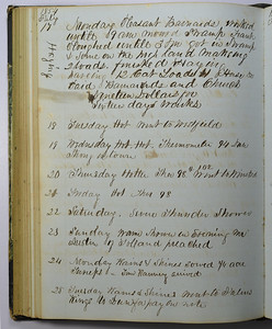 James Cooley Daily Record 1854 07 17 to 07 25