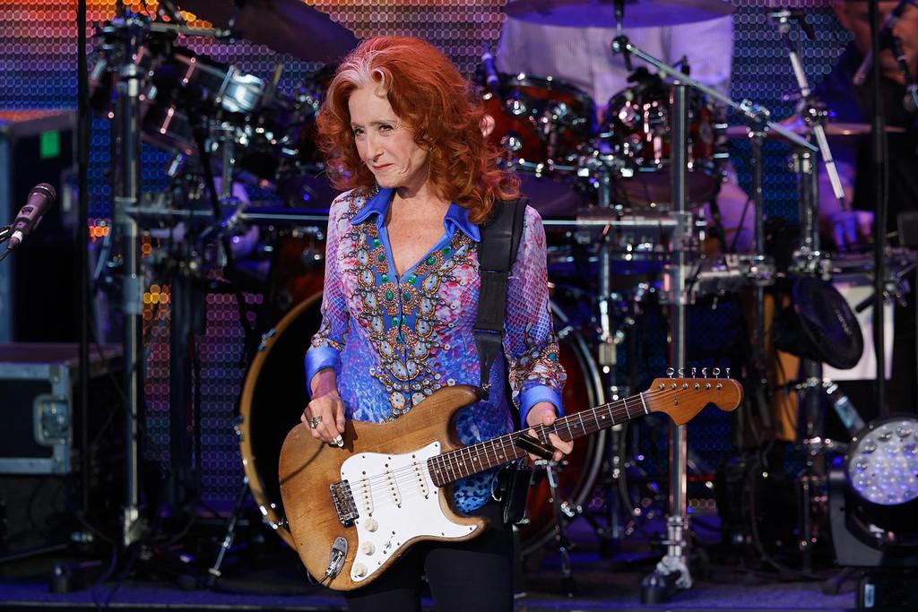 . Bonnie Raitt live at DTE Music Theatre on 8-8-17.  Photo credit: Ken Settle