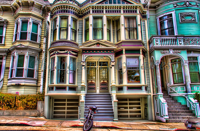 Row homes located near Haight Ashbury district of San Francisco