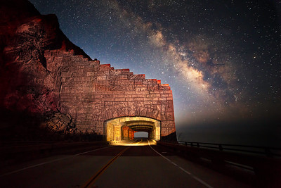 Rock Fall Bridge Under the Milky Way.
