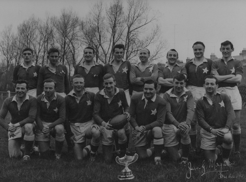 St. Mary s R.F.C.<br /> <br /> Trophy: n/a<br /> <br /> Captain: M. Jones<br /> <br /> Players: Back Row: G. Ryan, A. Sheil, C. Nolan, J. Gardiner, G. Duffy, W. Gray, C. Ryan, D. O Doherty<br /> Front Row: J. Kilmurray, E. Lyons, D. Cullen, M. Jones, J.P. Flanagan, N. Cooke, G. Bowden