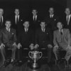 St. Mary s College R.F.C.<br /> <br /> Description: Lorcan Sherlock Golf Trophhy Winners - 1962/63<br /> <br /> Trophy: n/a<br /> <br /> President: D, Smyth<br /> <br /> Players: Back Row J.Hughes, B.Whelan, S, Cooke, P Redmond, BK Fitzsimon, Fronth Row, D O Sullivan D P Smyth, J Fanagan,