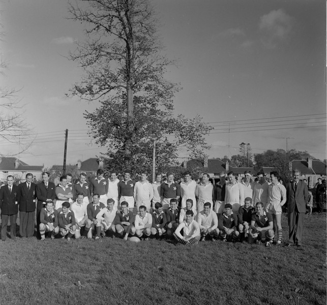 St. Mary s College R.F.C.<br /> <br /> Description: Opening of Fortfield Road, Clubhouse<br /> <br /> Trophy: n/a<br /> <br /> President: Frank Reddy