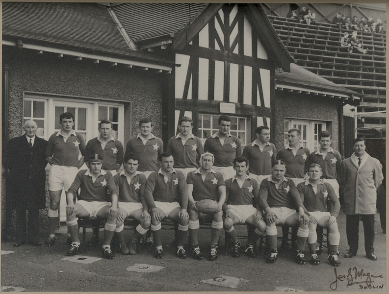 St. Mary s R.F.C.<br /> <br /> Trophy: n/a<br /> <br /> President: L.C. Gogan<br /> <br /> Captain: D. Hickie<br /> <br /> Players: Back Row: L.C. Gogan, C. Ryan, T. O Neill, D. Mullan, D. Malougheny, B. Kos, E. O Dwyer, S. Cooke, B. Cottier, J. Sheerin<br /> Front Row: F. Dowling, P. Moran, N Kenny, D. Hickie, T. Kerins, S. Lynch, K. Parkinson