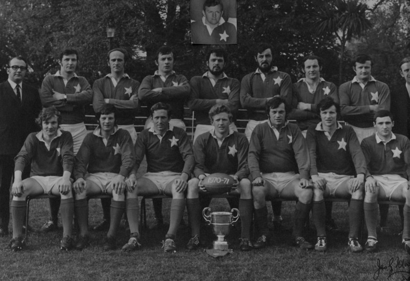 St. Mary s R.F.C.<br /> <br /> Trophy: Metropolitan Cup (J1)<br /> <br /> President: P.J. Bolger<br /> <br /> Captain: E. Mullan<br /> <br /> Coach: W. Gray<br /> <br /> Players: Back Row: W. Gray, N. Woodcock, T. Deering, C. Ryan, R. Foley, M. Glynn, R. Rigney, D. Mullan, P.J. Bolger<br /> Front Row: C. O Connell, J. McDonnell, D. Maloughney, E. Mullan, D. Jennings, S. Finlay, T. Young