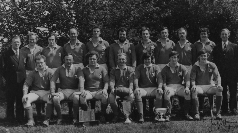 St. Mary s College R.F.C.<br /> <br /> Trophy: n/a<br /> <br /> President: P. Bolger<br /> <br /> Captain: J.B. Sweeney<br /> <br /> Coach: S. O Byrne<br /> <br /> Players: Back Row: S. O Byrne, A. Hickie, D. Jennings, D. Hickie, P. Byrne, R. Foley, T. McCormick, C. Ryan, K. Corrigan, P. Andreucetti, P. Bolger<br /> Front Row: A. Byrne, N. Kennedy, S. Lynch, J.B. Sweeney, A. Andreucetti, F. Meehan, J. Moloney
