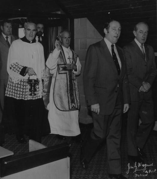 St. Mary s College R.F.C.<br /> <br /> Description: From Left: J Finucane, Fr. Walter Kennedy, M Glynn, Bishop J Whelan, M Gilsenan, B Lynch.<br /> <br /> Trophy: n/a<br /> <br /> President: Matt Gilsenan