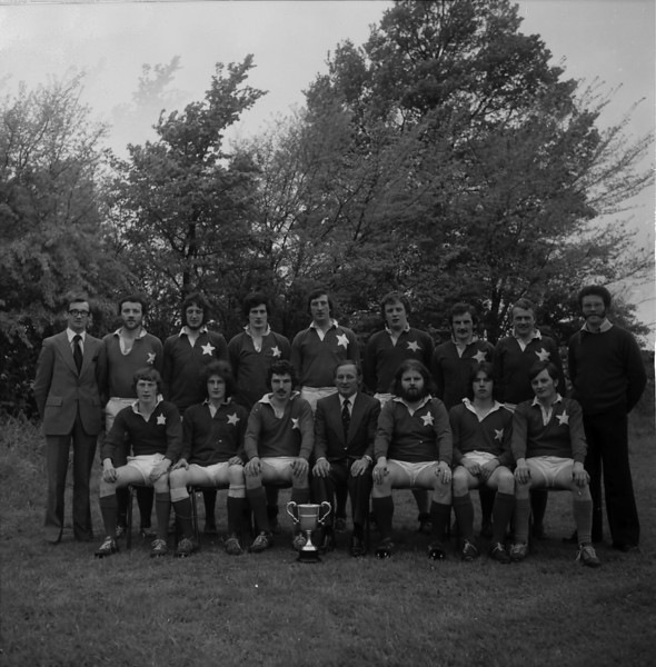 St. Mary s College R.F.C.<br /> <br /> Trophy: O'Connor Cup (J5)<br /> <br /> President: Matt Gilsenan<br /> <br /> Captain: Brendan Spring<br /> <br /> Coach: Denis Hooper<br /> <br /> Mananger: Dermot White<br /> <br /> Players: Back Row: D White,D Gough, S O Doherty, J Fearon, P Kearney, J Curran, A Andreucetti, D O Sullivan, D Hooper, Front Row: H Bolger, A N Other, B Spring, M Gilsenan, D Mooney, A N Other, P Donnelly.