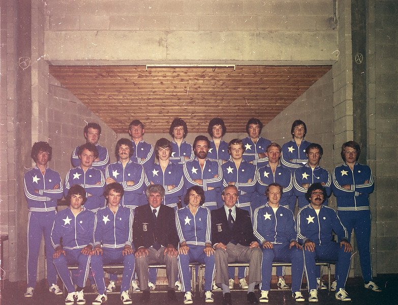 St. Mary s College R.F.C.<br /> <br /> Description: Russian Tour - 1977<br /> <br /> Trophy: n/a<br /> <br /> President: Tim Brooder<br /> <br /> Captain: Mick Glynn<br /> <br /> Mananger: Nicky Corrigan<br /> <br /> Players: Back Row: A Byrne, F O Dea, A Delaney, R O Donnell, E Wigglesworth, M Graham. Middle Row: G Delaney, P Mc Crann, J Donnellan, T Grace, M Glynn, D Fanning, J B Sweeney, T Mc Cormack, T Young. Front Row: F Kennedy, D Deering, N Corrigan, J Moloney, T Broode