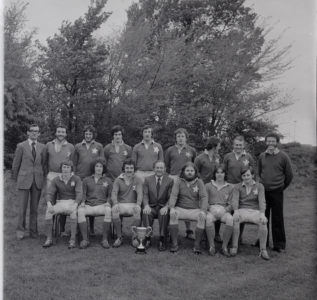St. Mary s College R.F.C.<br /> <br /> Trophy: O'Connor Cup (J5)<br /> <br /> President: Matt Gilsenan<br /> <br /> Captain: Brendan Spring<br /> <br /> Coach: Denis Hooper<br /> <br /> Mananger: D White<br /> <br /> Players: Back Row: D White, R Gough, S O Doherty, J Fearon, P Kearney, J Curran, K Conboy, D O Sullivan, D Hooper, Front Row: H Bolger, D Coughlan, B Spring, M Gillsenan, D Mooney, P Barnwell, P Donnelly