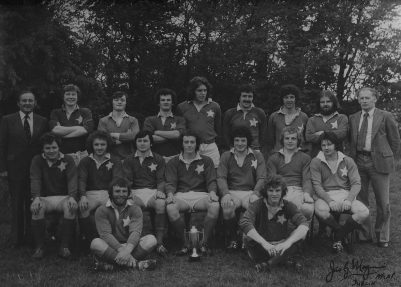 St. Mary s R.F.C.<br /> <br /> Trophy: Des Merrey Cup<br /> <br /> President: M.G. Gilsenan<br /> <br /> Coach: L. McMullan<br /> <br /> Players: Back Row: M.G. Gilsenan, F. O Dea, H. O Donoghue, D. Gardiner, C. Barry, P. Dorgan, G. Delaney, G. Mooney, L. McMullan<br /> Middle Row: S. Dunne, B. McDonagh, L. Healion, D. Early, R. O Donnell, D. Fanning, D. Howard<br /> Front Row: S. Brennan, D. O Connor