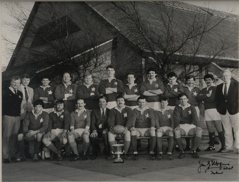 St. Mary s College R.F.C.<br /> <br /> Trophy: O'Connell Cup (J2)<br /> <br /> President: Ken Sparrow-deceased<br /> <br /> Captain: John Murphy<br /> <br /> Coach: Paul Mc Inerney<br /> <br /> Assistant Coach: Jim Norton<br /> <br /> Mananger: Greg Maher<br /> <br /> Players: Back Row: G Maher, J Norton,J Pimlott, P O Reilly, P Mc Gill, K Egan, B Aherne, B Kennedy, D Quigley, J Ebbs, P Flood, P Mc Inerney, Front Row: F Kennedy, N Woodcock, K Conboy, W Fagan, J Murphy, A Whelan, J Muldoon, J Bowen