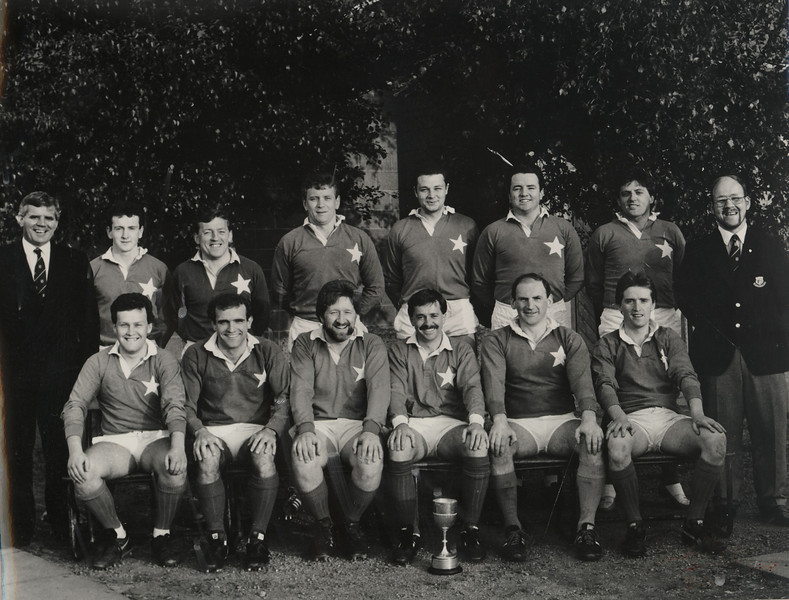 St. Mary s R.F.C.<br /> <br /> Trophy: Junior 3 League<br /> <br /> Captain: J. Ebbs<br /> <br /> Mananger: S. Jennings<br /> <br /> Players: Back Row: S. Jennings, P. Whelan, L. Grissing, J. Curran, G. Murphy, G. McGibney, G. Delaney, G. Tierney<br /> Front Row: C. Diamond, N. Rynne, J. Boyle, J. Ebbs, J. Conboy, N. Kenny
