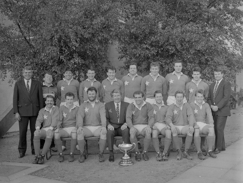 St. Mary s College R.F.C.<br /> <br /> Trophy: Junior 2 League<br /> <br /> President: Jim Murray<br /> <br /> Captain: Niall Rynne<br /> <br /> Coach: Tony Pacceti<br /> <br /> Mananger: Sean Jennings