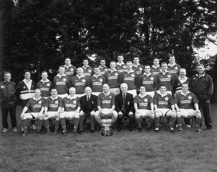 St. Mary s College R.F.C.<br /> <br /> Trophy: All Ireland League<br /> <br /> President: Brendan Spring<br /> <br /> Captain: Trevor Brennan<br /> <br /> Coach: Brent Pope<br /> <br /> Assistant Coach: Nicky Barry<br /> <br /> Mananger: Kevin Conboy<br /> <br /> Assistant Manager: Brian Grimson