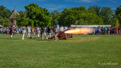 Military Reenactment - Canon Shot of Cannon Shot