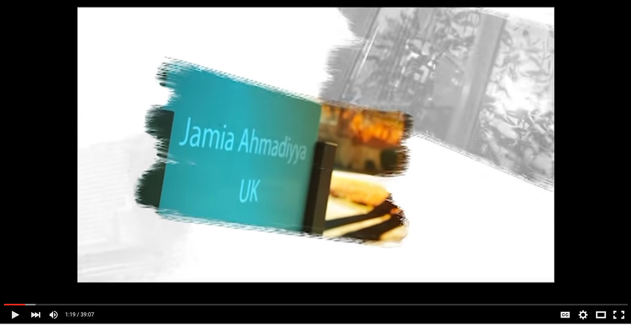 40 minute documentary about Jamia UK produced by MTA UK. Please click link below below to view video.