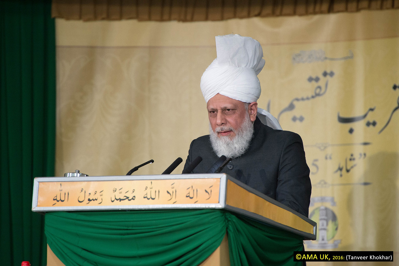 "Hazrat Mirza Masroor Ahmad said to the students: ""Always remember that your objectives are to guide mankind towards establishing a connection with God Almighty and to fulfil their responsibilities towards one another. If our Missionaries reflect upon the magnitude of their responsibilities, it will undoubtedly shake them to their very core as they realise the burden of their duties."""