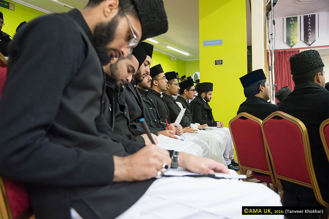 Throughout the Khalifa's address, Jamia students listened carefully and many took notes.