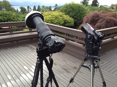 My camera and telescope