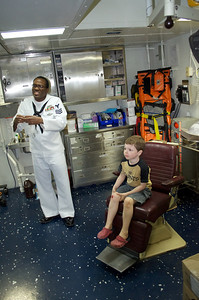 Private tour of the ship's medical facilities