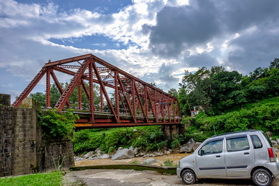 Small Bridge over Stream Jammu to Dharamshala by Road India
