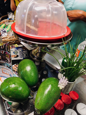 Avocados for sale at the counter  - Jamrock Cuisine Restaurant
