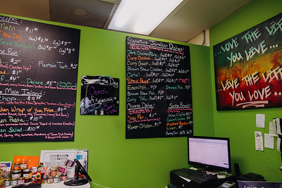 Jamrock Cuisine Restaurant - Menu on the wall