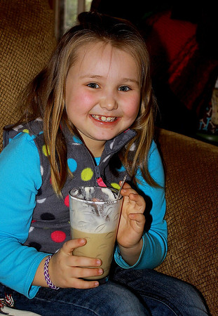 I got to make Olivia a root beer float.  Used to take her dad out for floats after working in the yard 20+ yrs ago.