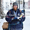 Letter carrier in the snow