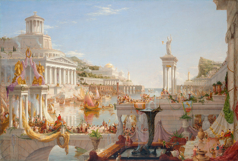 Thomas Cole (1801-1848) The Course of Empire: The Consummation of Empire, 1836, Oil on canvas. New-York Historical Society, Gift of The New-York Gallery of the Fine Arts, 1858.3.