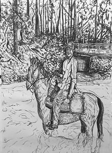 Kellen Mayfield's Charcoal Drawing