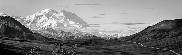 Denali, The Great One, and Park Road, Denali Park, Alaska - High Dynamic Range editing (HDR)