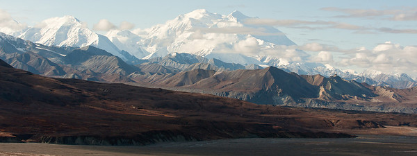 Denali, The Great One, and Alaska Range, Denali Park, Alaska