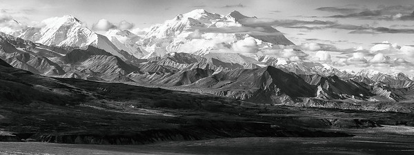 Denali, The Great One, and Alaska Range, Denali Park, Alaska -  High Dynamic Range editing (HDR)