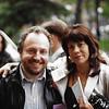 Gerald Nicosia and Jan Kerouac, NYU, New York City, May<br /> 1994.  Photo by Sylvia Nicosia.