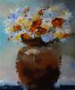 """Urban Bouquet""-LunTse, 32x38 painting on canvas (15-10-18) JPG"