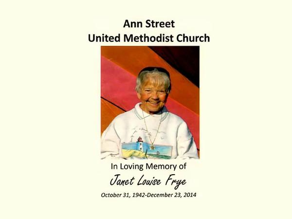 In Loving Memory of Janet Louise Frye part 1