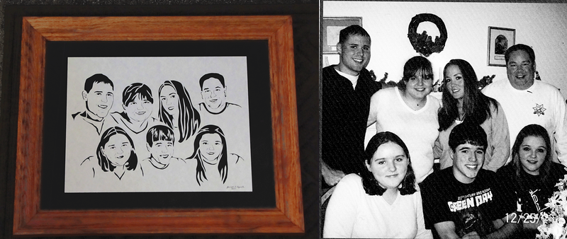 Original Image Emailed To Me Prices Begin At $99 For One Subject $135 For Multiple Subjects Email your family portrait to Janet Lynch For Pricing : ArtGalleryRiverRd@gmail.com