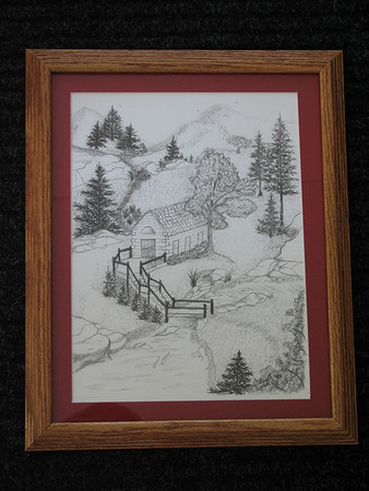 "Title: ""Log Cabin""  <br /> Signed And Numbered Print<br /> Size: 11x14<br /> Price: $49<br /> Email Your Order: JanetLynchArt@gmail.com"